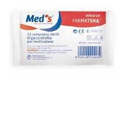 MEDS GARZA 12/8 10X10CM 25PZ - DISPOSITIVO MEDICO