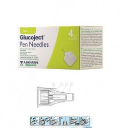 GLUCOJECT PEN NEEDLES  4MM G32