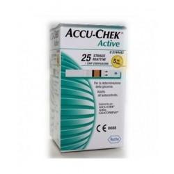 ACCU CHEK ACTIVE STRIPS 25PZ - DISPOSITIVO MEDICO