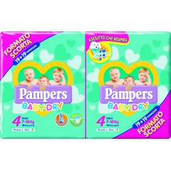 PAMPERS BABY DRY DUO EXTRA LARGE 38 PEZZI