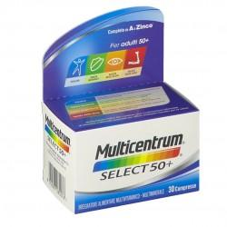 MULTICENTRUM SELECT 50+ MULTIVITAMINICO 30CPR
